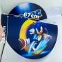 Kit de Festa com 13 Displays e Painel Redondo em MDF do Sonic