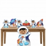 Kit Decoração de Festa Totem Display 7 Peças Astronauta 2