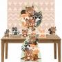Kit Decoração de Festa Totem Display 8 peças Bosque Encantado