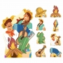 Kit decoração totem display 9pçs+painel- Festa Junina