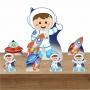Kit Decoração de Festa Totem Display Astronauta 7 Peças