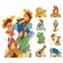 Kit Decoração de Totem Display Festa Junina 9 Peças