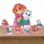 Kit Decoração de Festa Totem Display Patrulha Canina Rosa - 7 Peças