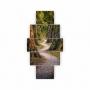 Quadros Decorativos Mosaico Quarto Caminho do Bosque 5 peças