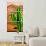 Quadros Decorativos Mosaico Quarto Sala Cactos peças - 126x65cm