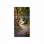 Quadros Decorativos Mosaico Quarto Sala Caminho do Bosque 3 peças - 126x65cm