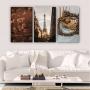 Quadros Decorativos Mosaico Quarto Sala Paris 3 peças - 126x65cm