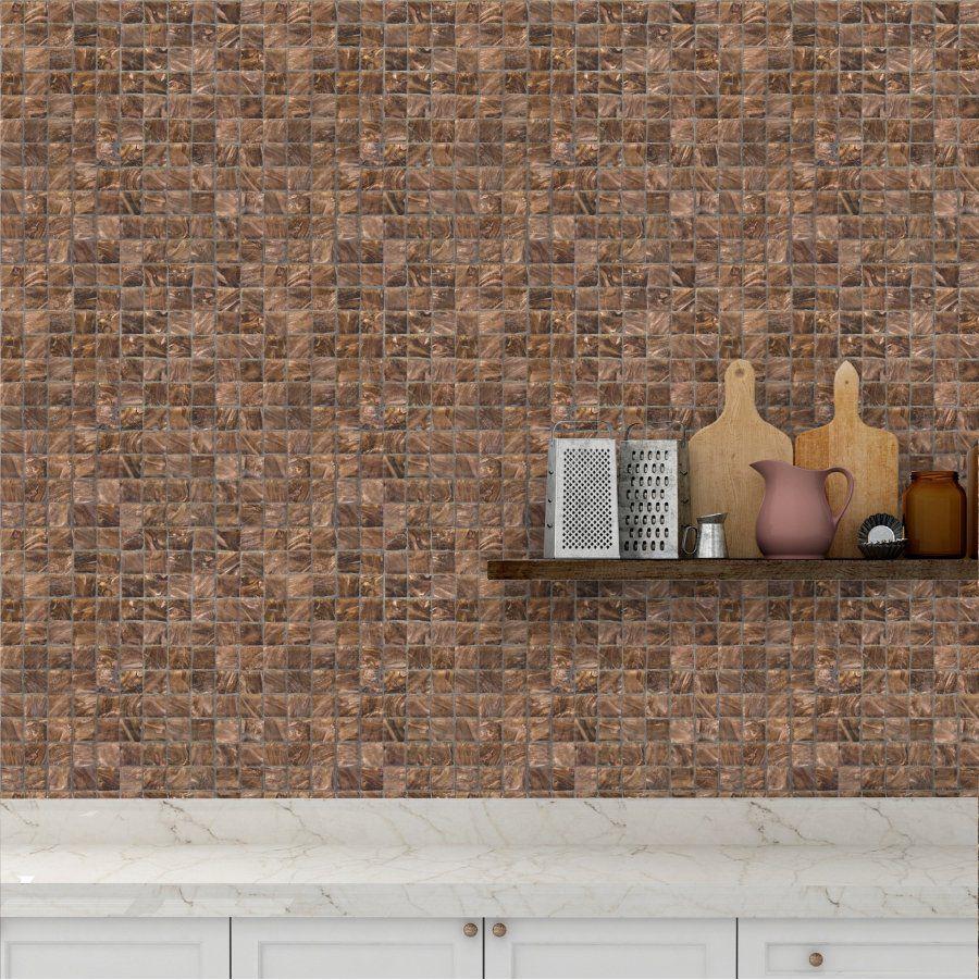 Kit Revestimento 30x30cm Lavável Pedras Marrons