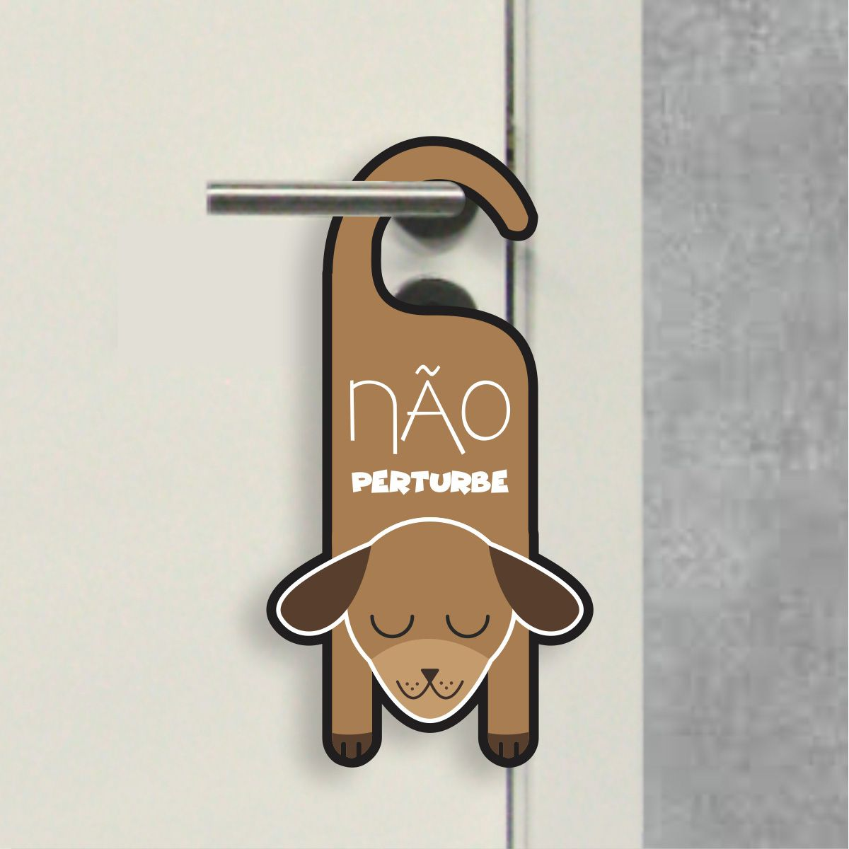 Aviso de Porta - Não Perturbe Cachorrinho