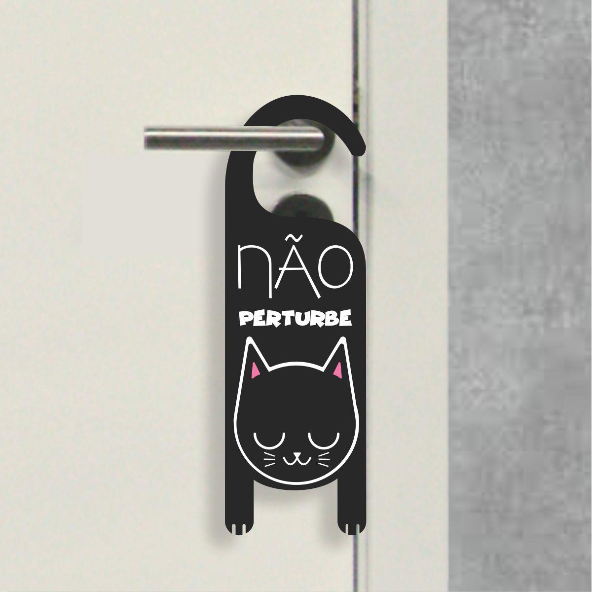Aviso de Porta - Não Perturbe Gatinho