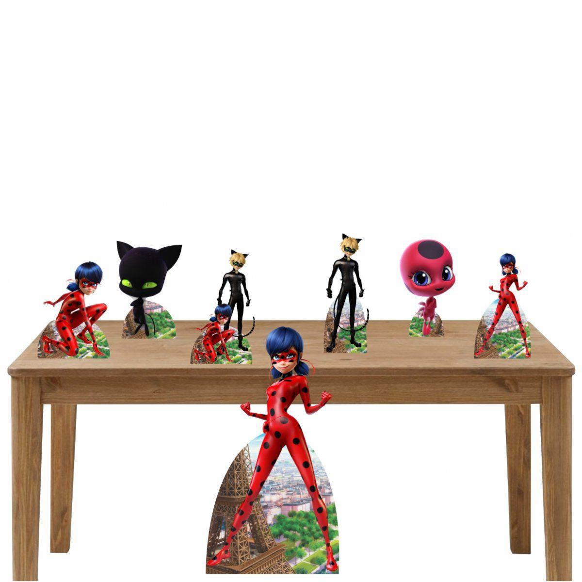 Kit 2 Decoração de Festa Totem Display Ladybug - 7 Peças