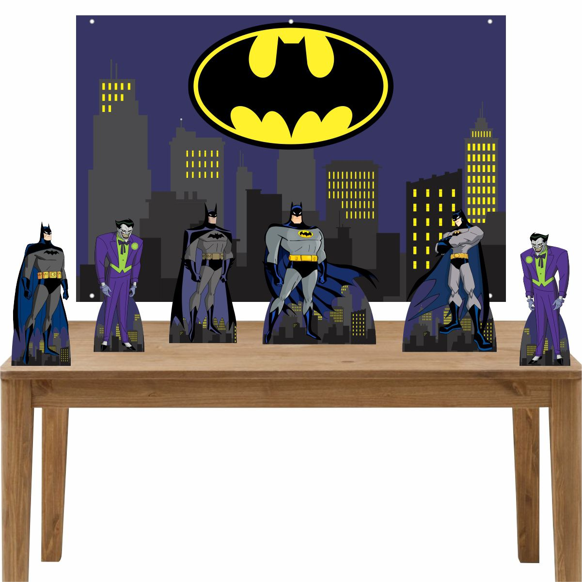 Kit 6 Displays de Mesa e Painel Batman