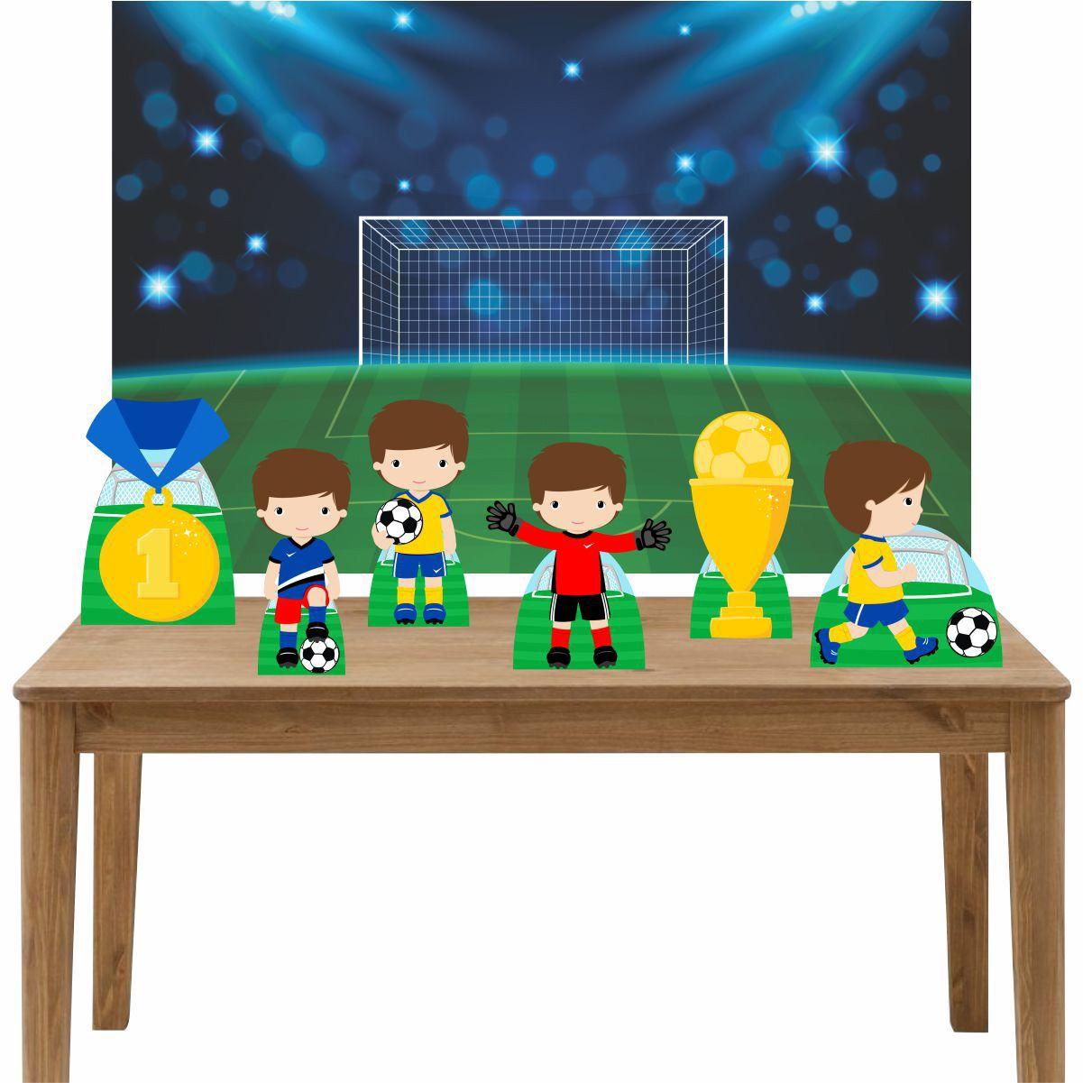 Kit 6 Displays de Mesa e Painel Futebol Cute
