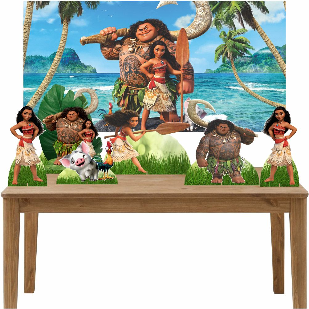 Kit 6 Displays de Mesa e Painel Moana