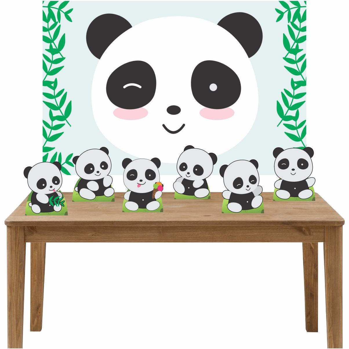 Kit 6 Displays de Mesa e Painel Pandas