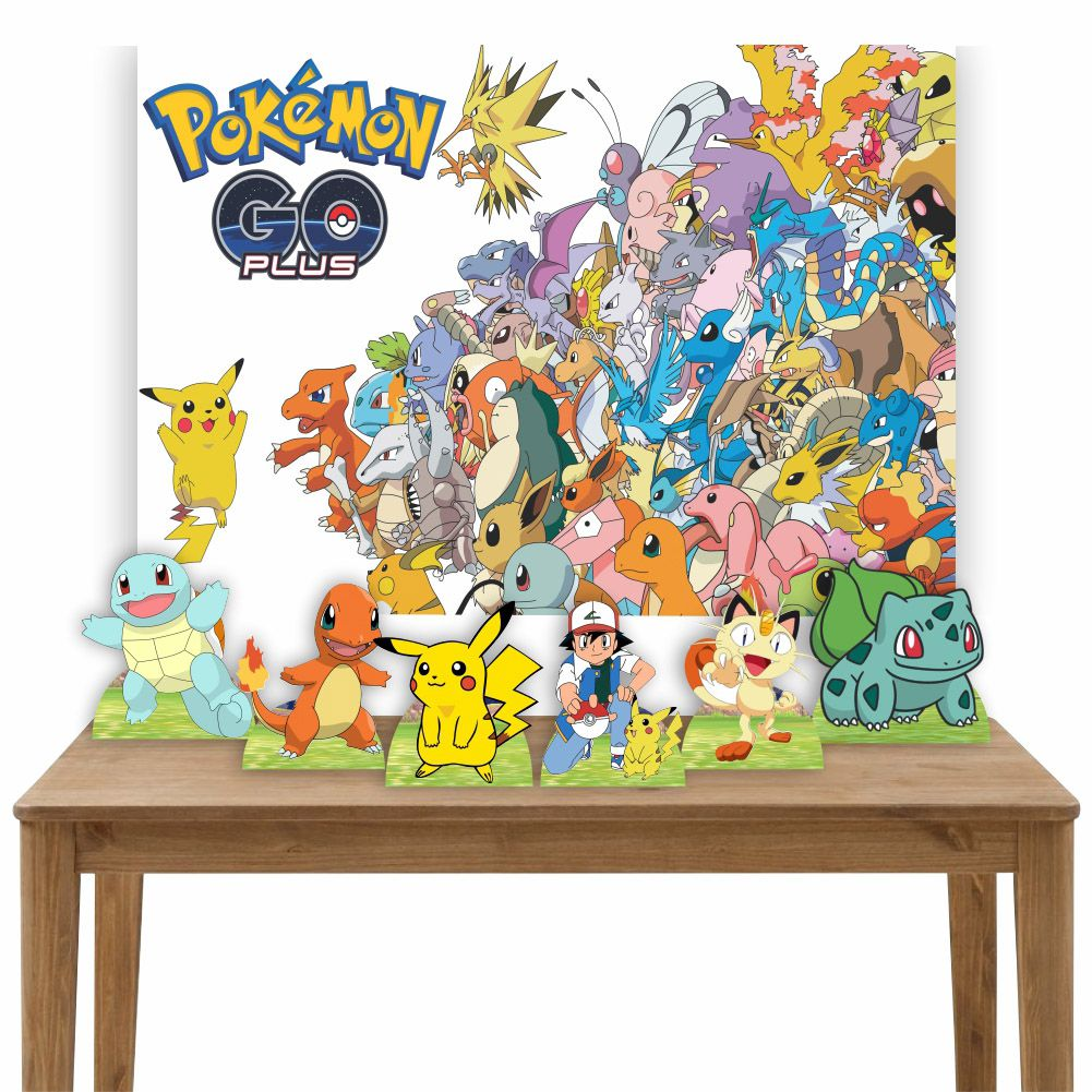 Kit 6 Displays de Mesa e Painel Pokemon