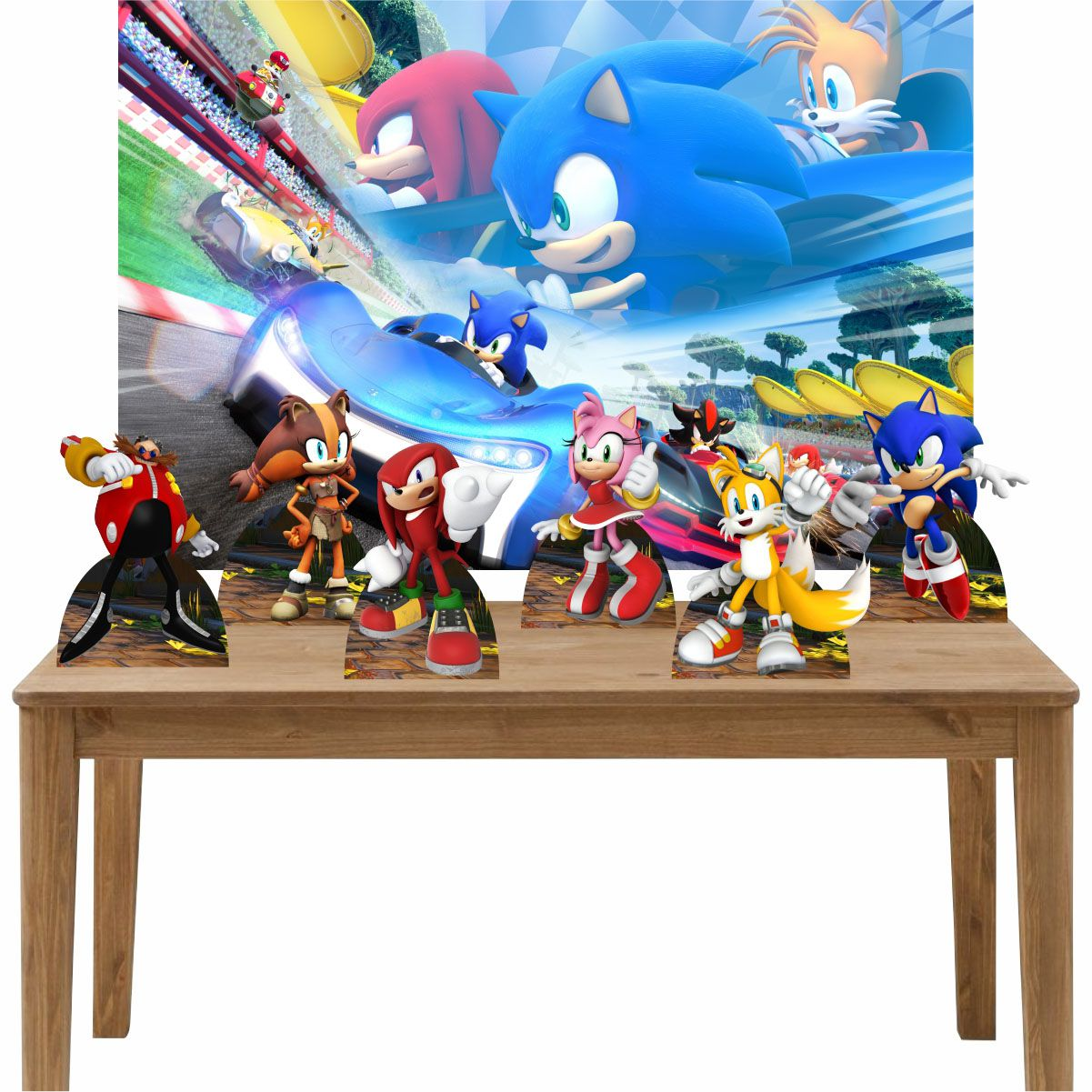 Kit 6 Displays de Mesa e Painel Sonic