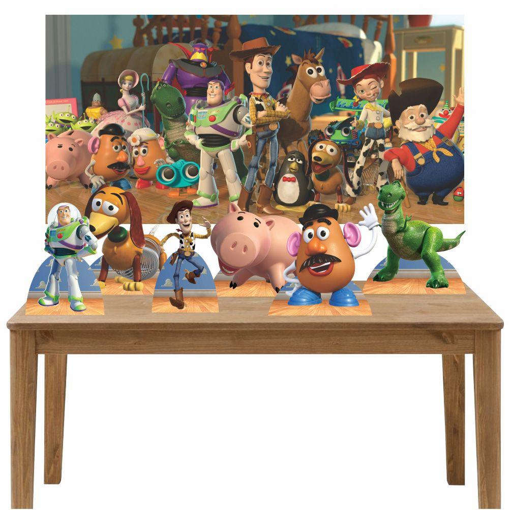 Kit 6 Displays de Mesa e Painel Toy Story
