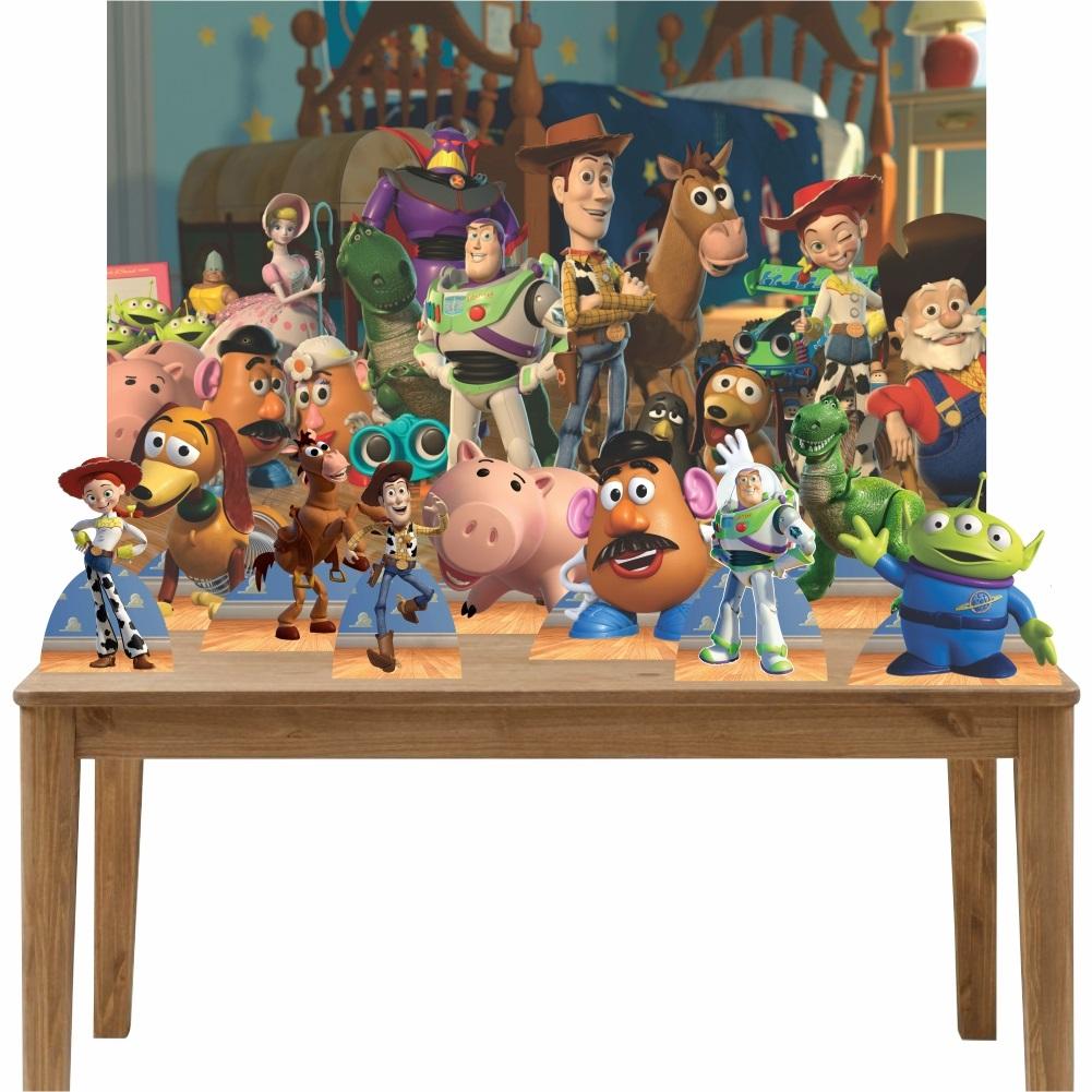 Kit Decoração de Festa Totem Display 10 peças Toy Story