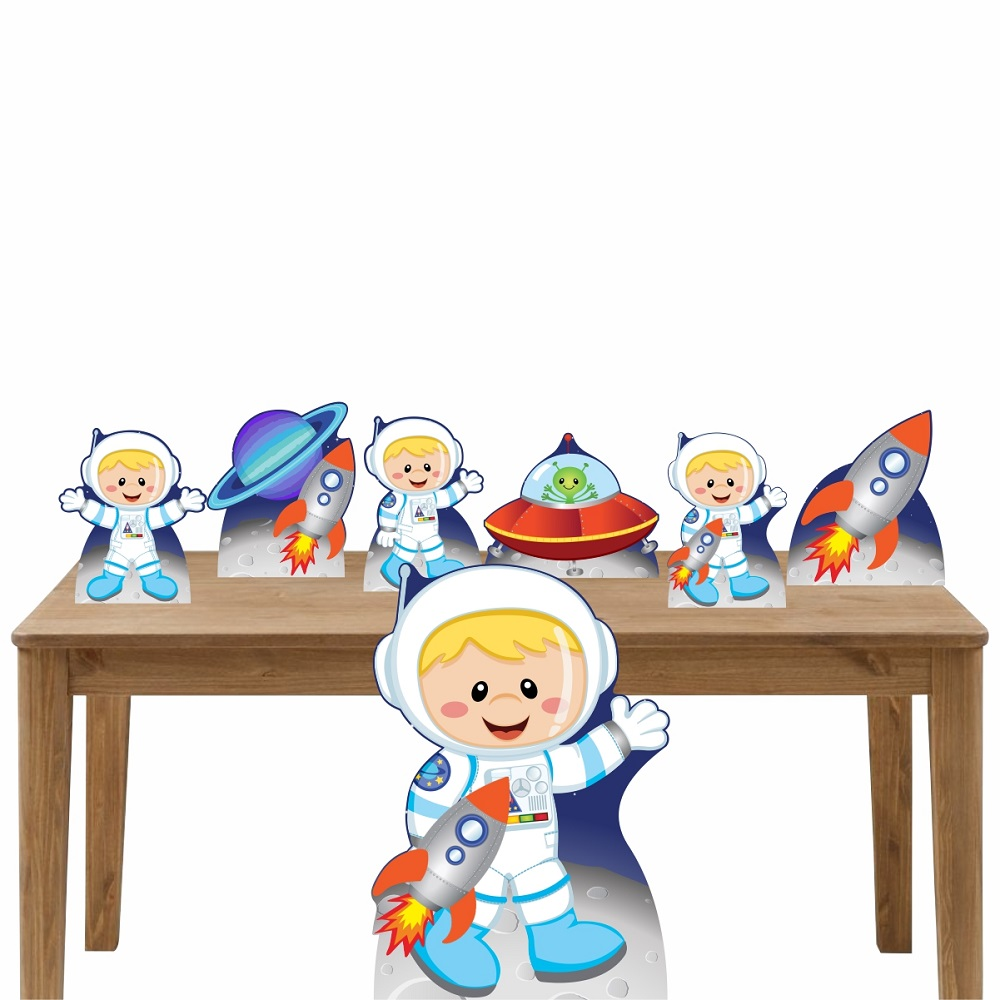 Kit Decoração de Festa Totem Display 7 Peças Astronauta 3