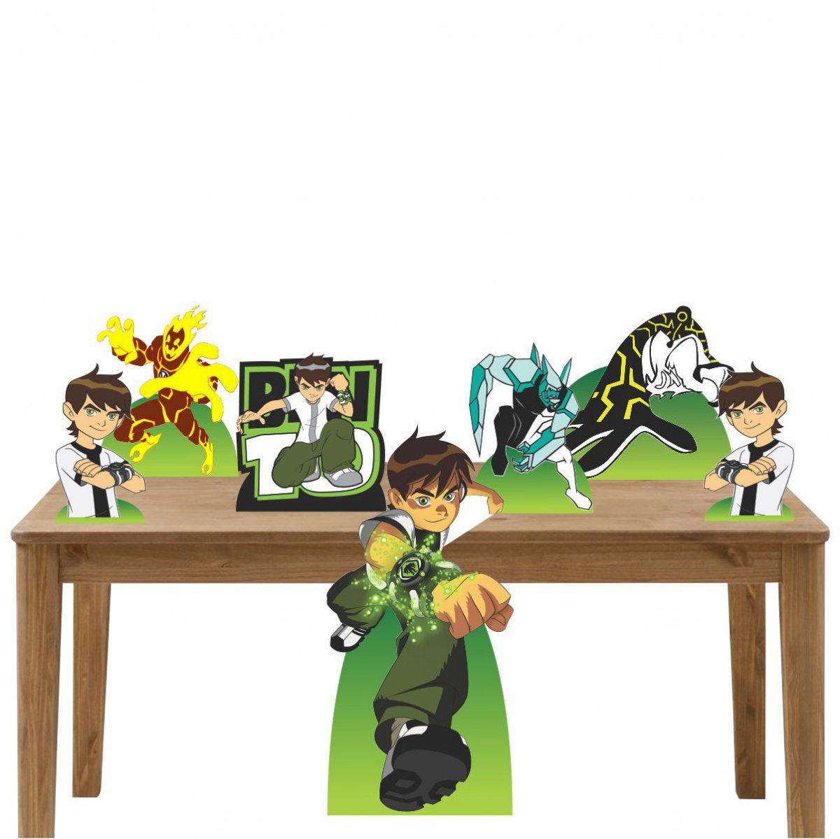 Kit Decoração de Festa Totem Display Ben 10 - 7 Peças