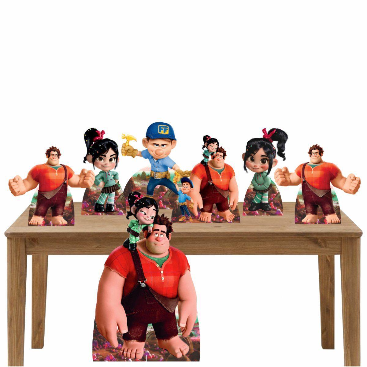 Kit Decoração de Festa Totem Display Detona Ralph-7 Peças