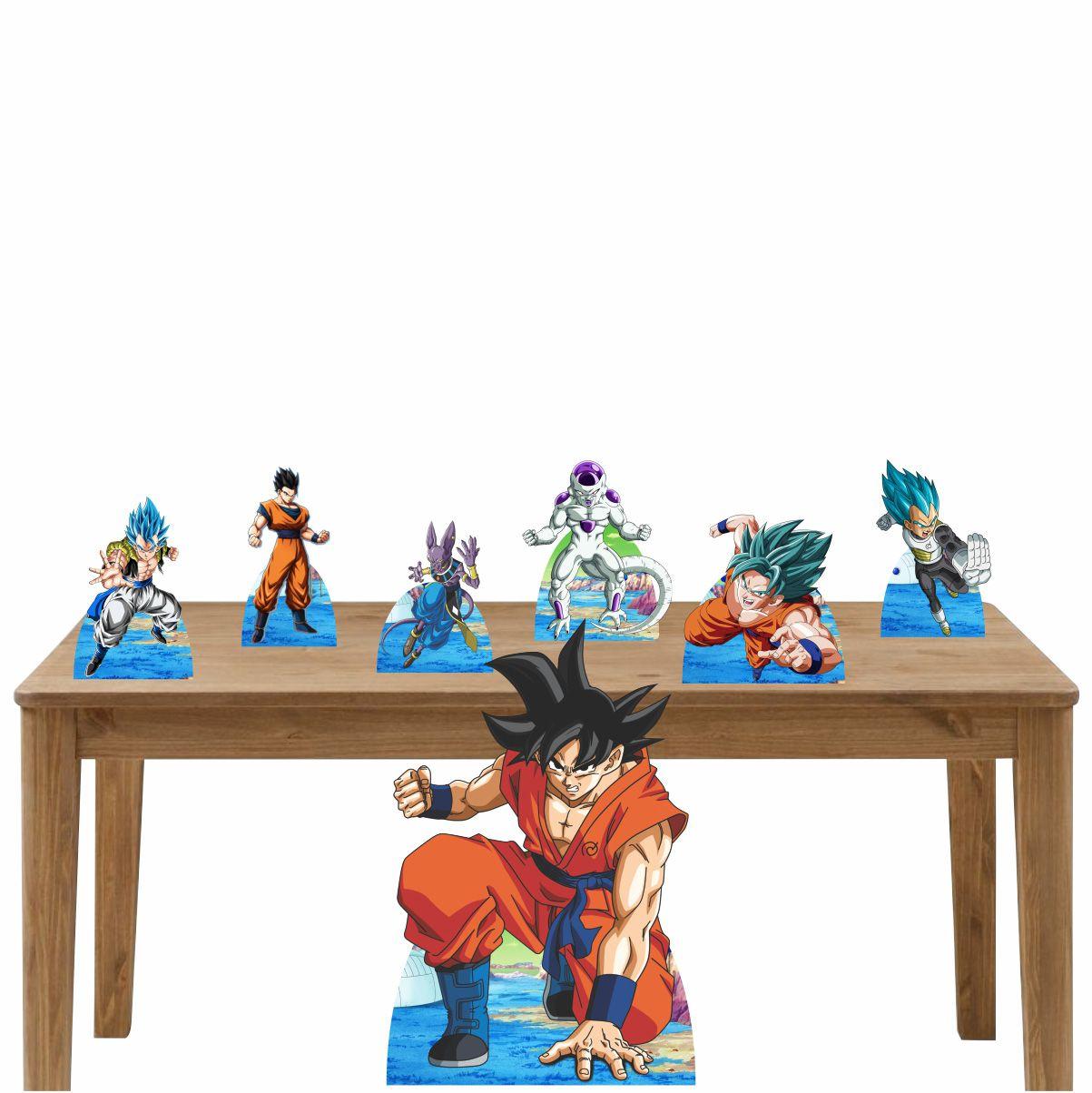 Kit Decoração de Festa Totem Display Dragon Ball 7 Peças