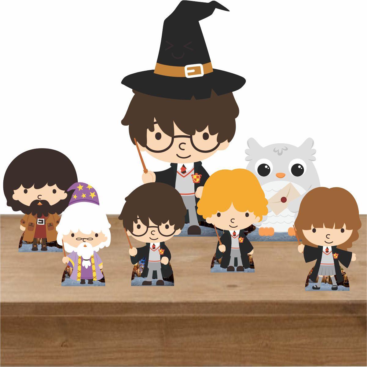 Kit Decoração de Festa Totem Display Harry Potter - 7 Peças