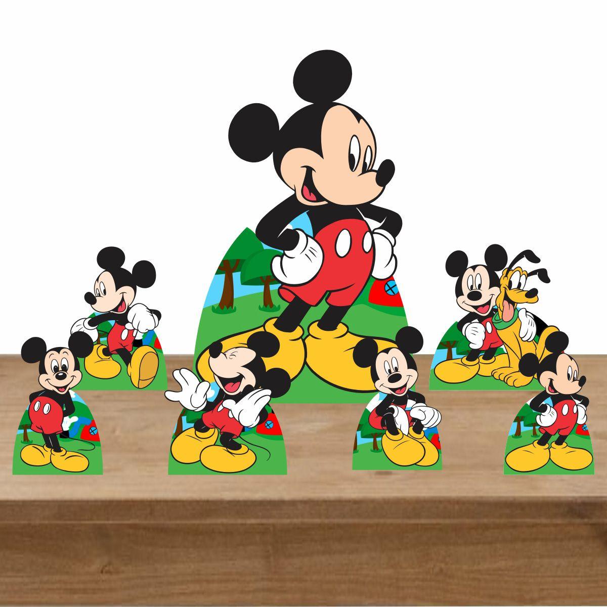 Kit Decoração de Festa Totem Display Mickey Mouse 7 Peças