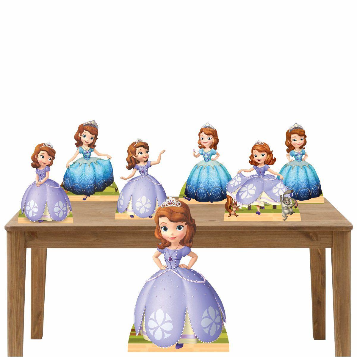 Kit Decoração de Festa Totem Display Princesa Sofia-7 Peças