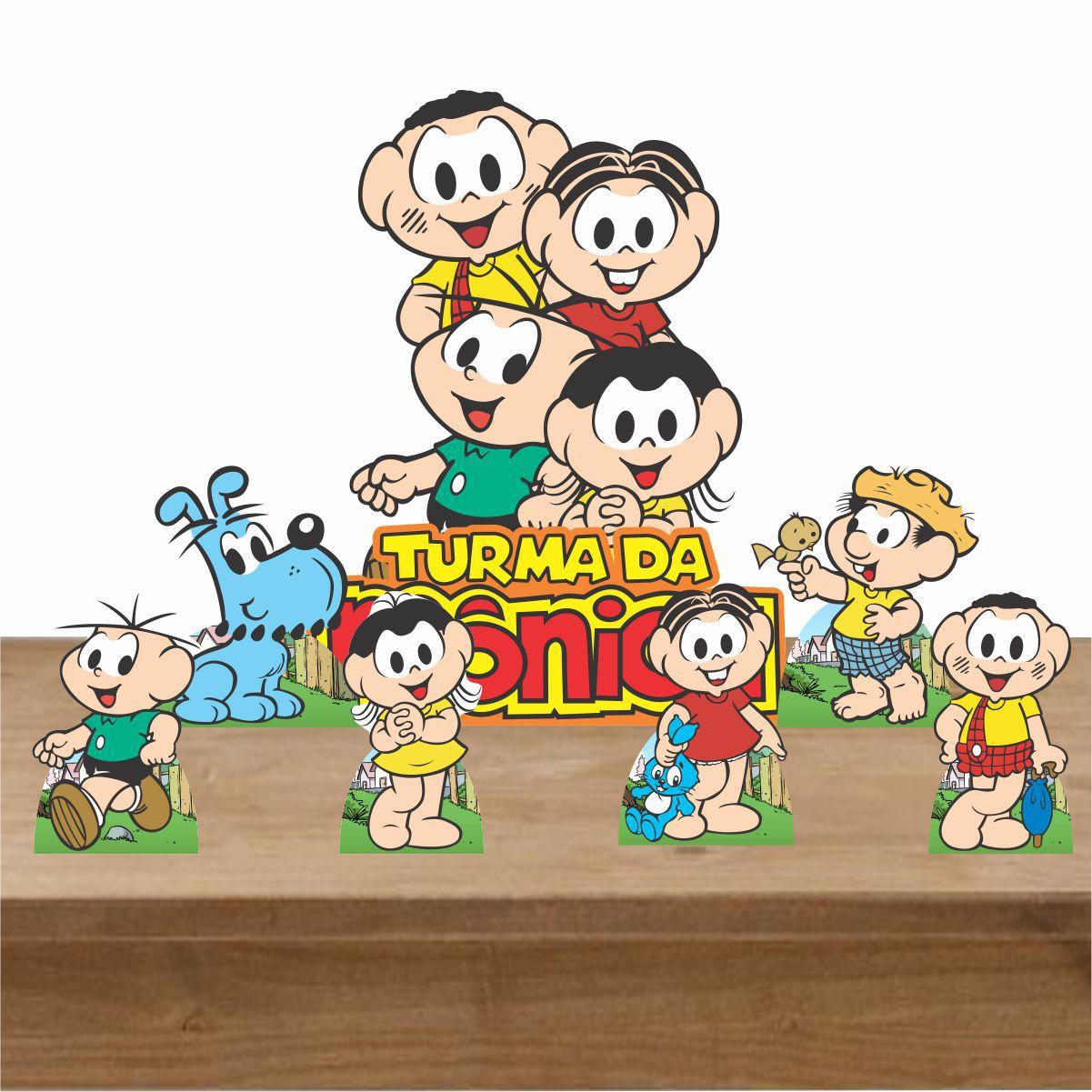 Kit Decoração de Festa Totem Display Turma da Mônica 7 Peças