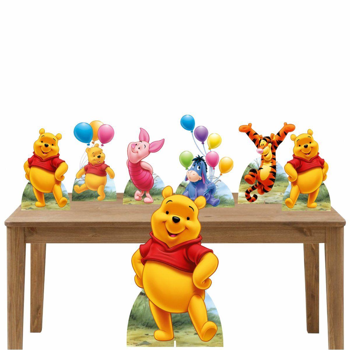 Kit Decoração de Festa Totem Display Ursinho Pooh-7 Peças