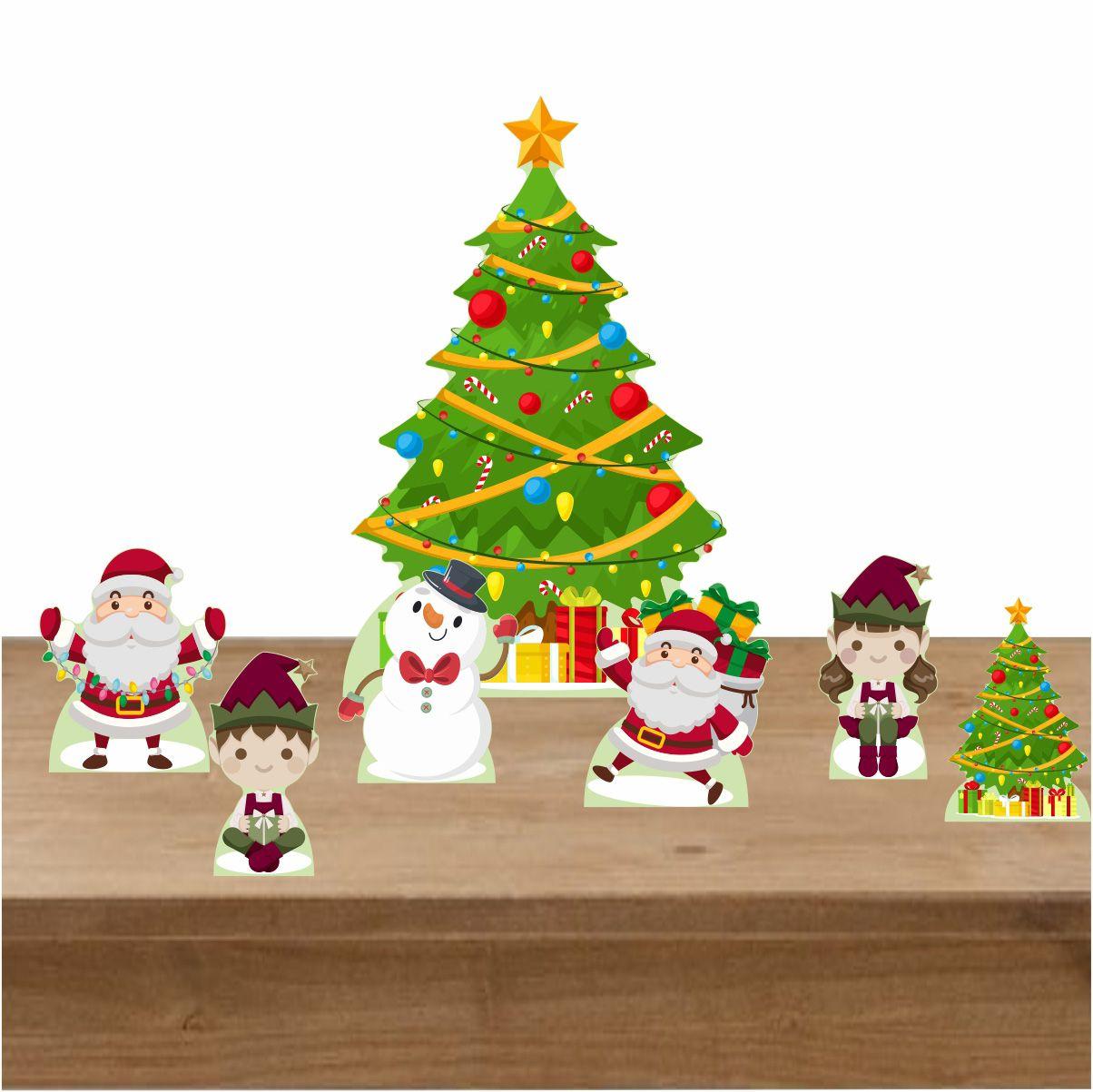 Kit Decoração de Natal Totem Display 7 Peças