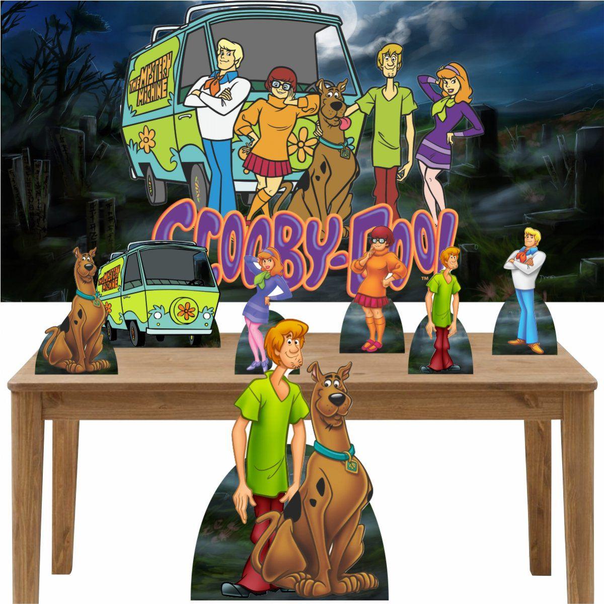 Kit Decoração de Festa Totem Display 8 peças Scooby Doo