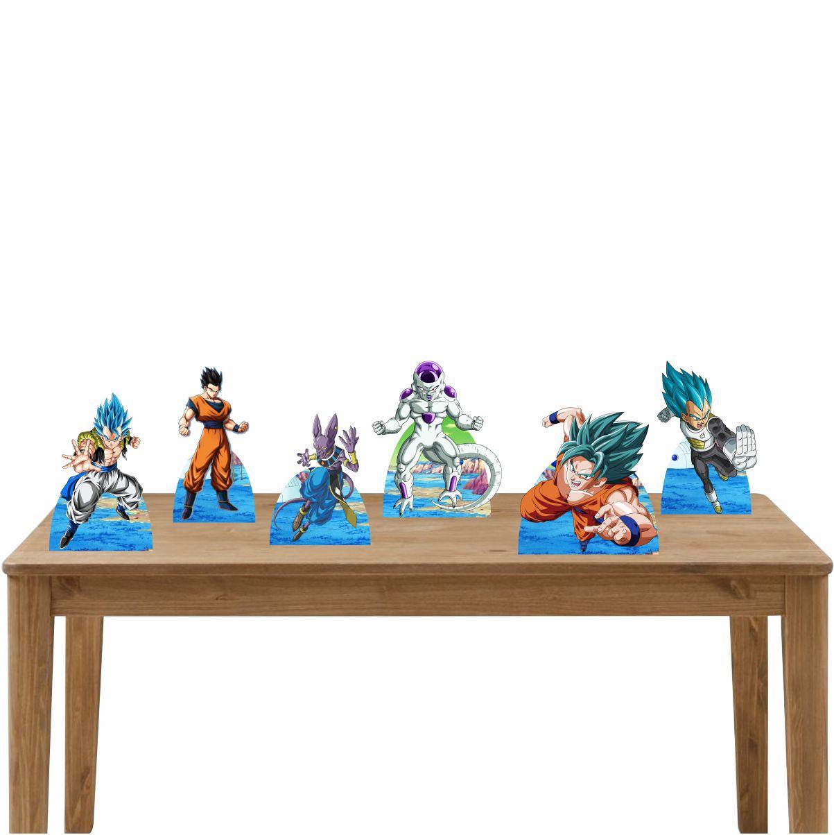 Kit Festa 6 Displays de Mesa Aniversário Dragon Ball