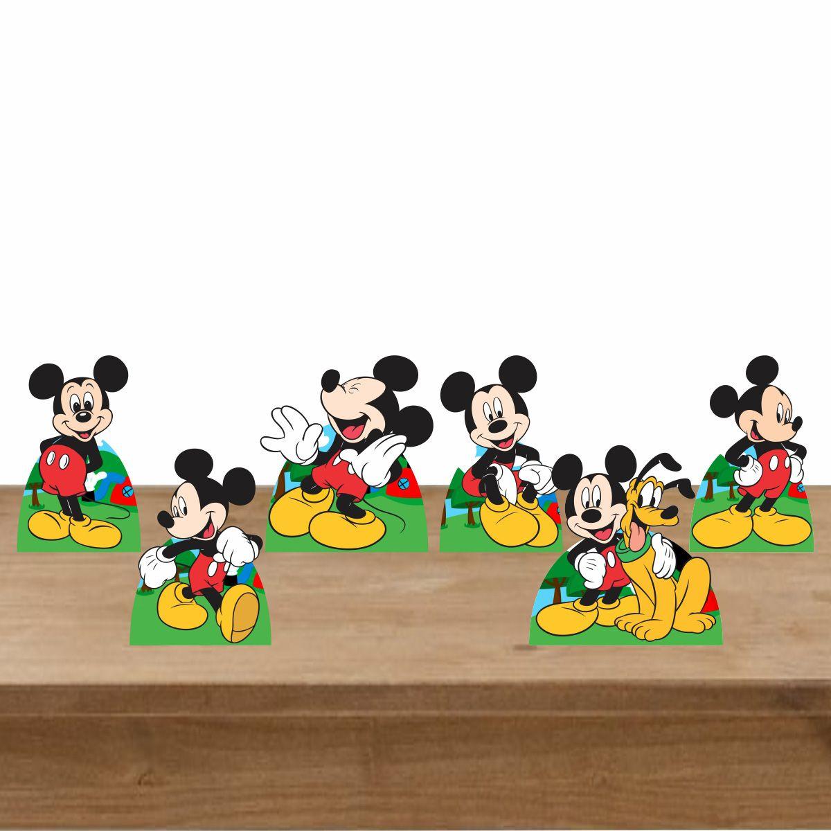 Kit Festa 6 Displays de Mesa Aniversário Mickey Mouse