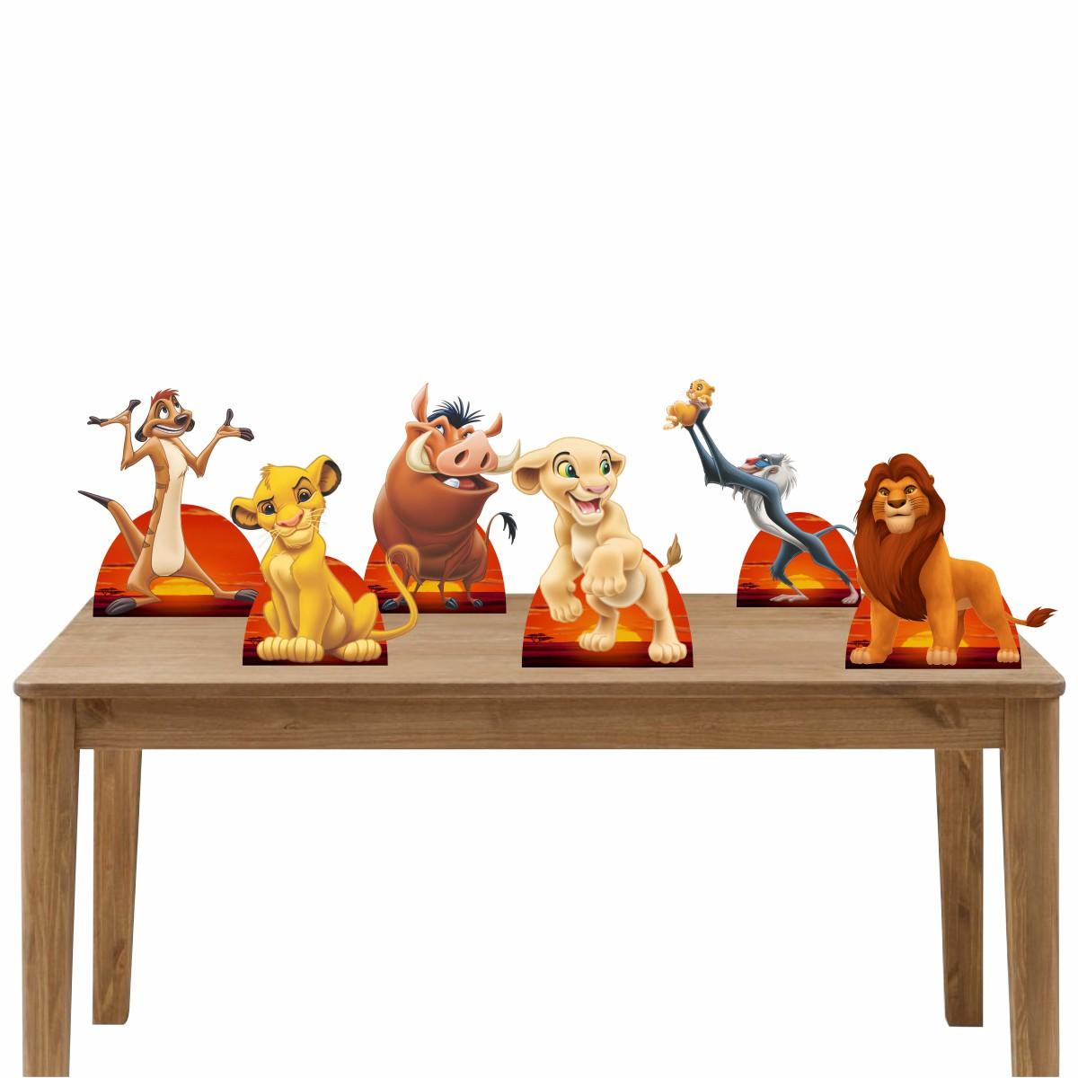 Kit Festa 6 Displays de Mesa Aniversário O Rei Leão