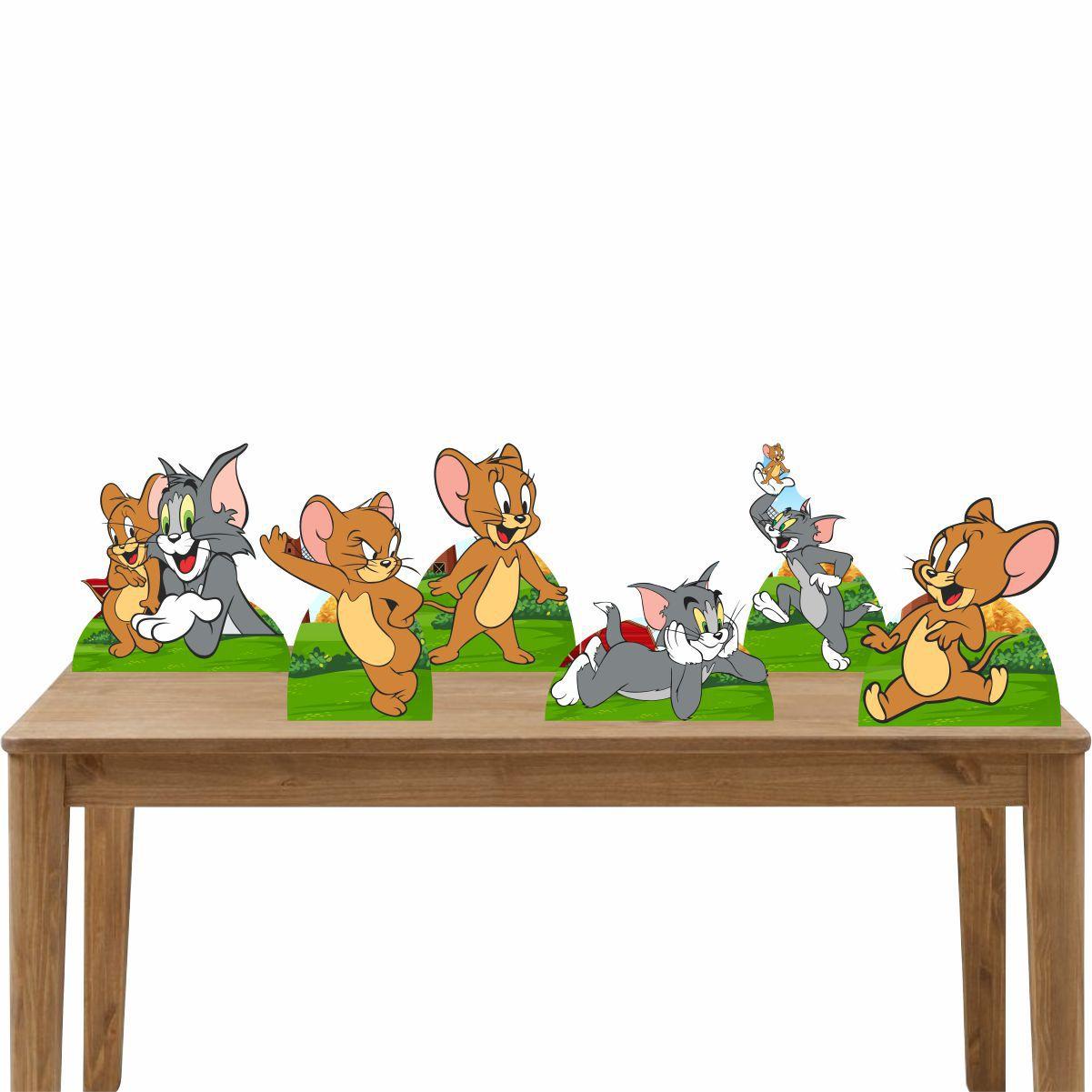 Kit Festa 6 Displays de Mesa Aniversário Tom e Jerry