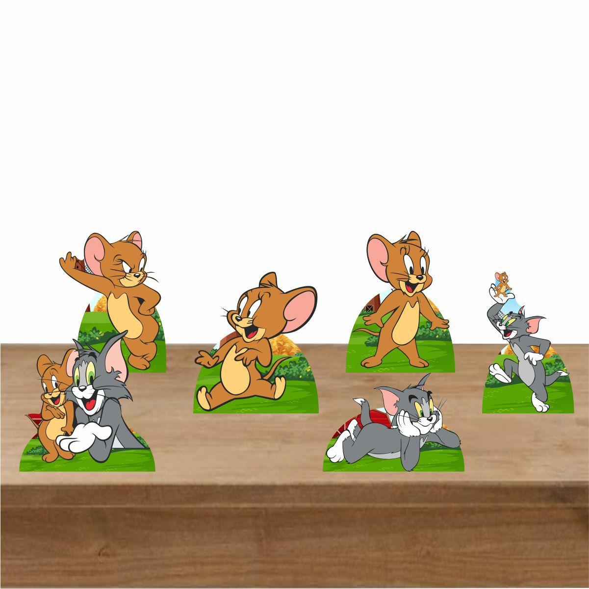 Kit Festa 6 Displays de Mesa Aniversário Tom e Jerry