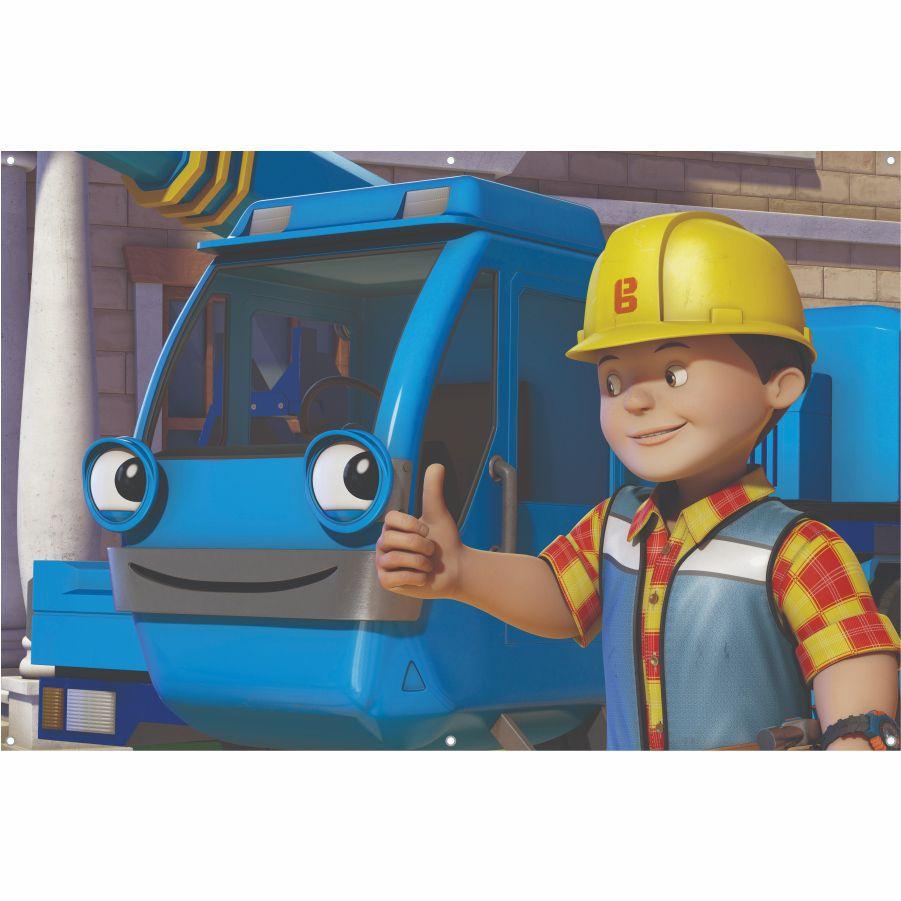 Painel de Festa Bob o Construtor em lona