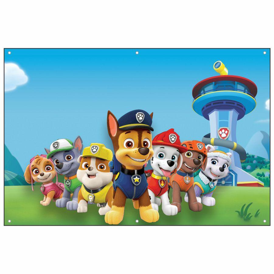 Painel de Festa Lona 3 Patrulha Canina
