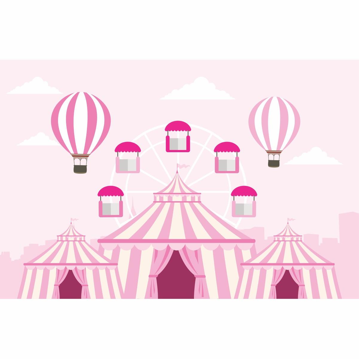 Painel de Festa Lona Circo Menina