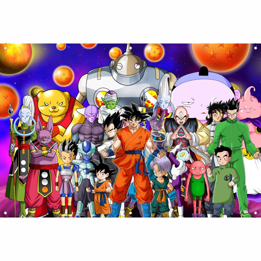 Painel de Festa Lona Dragon Ball Z