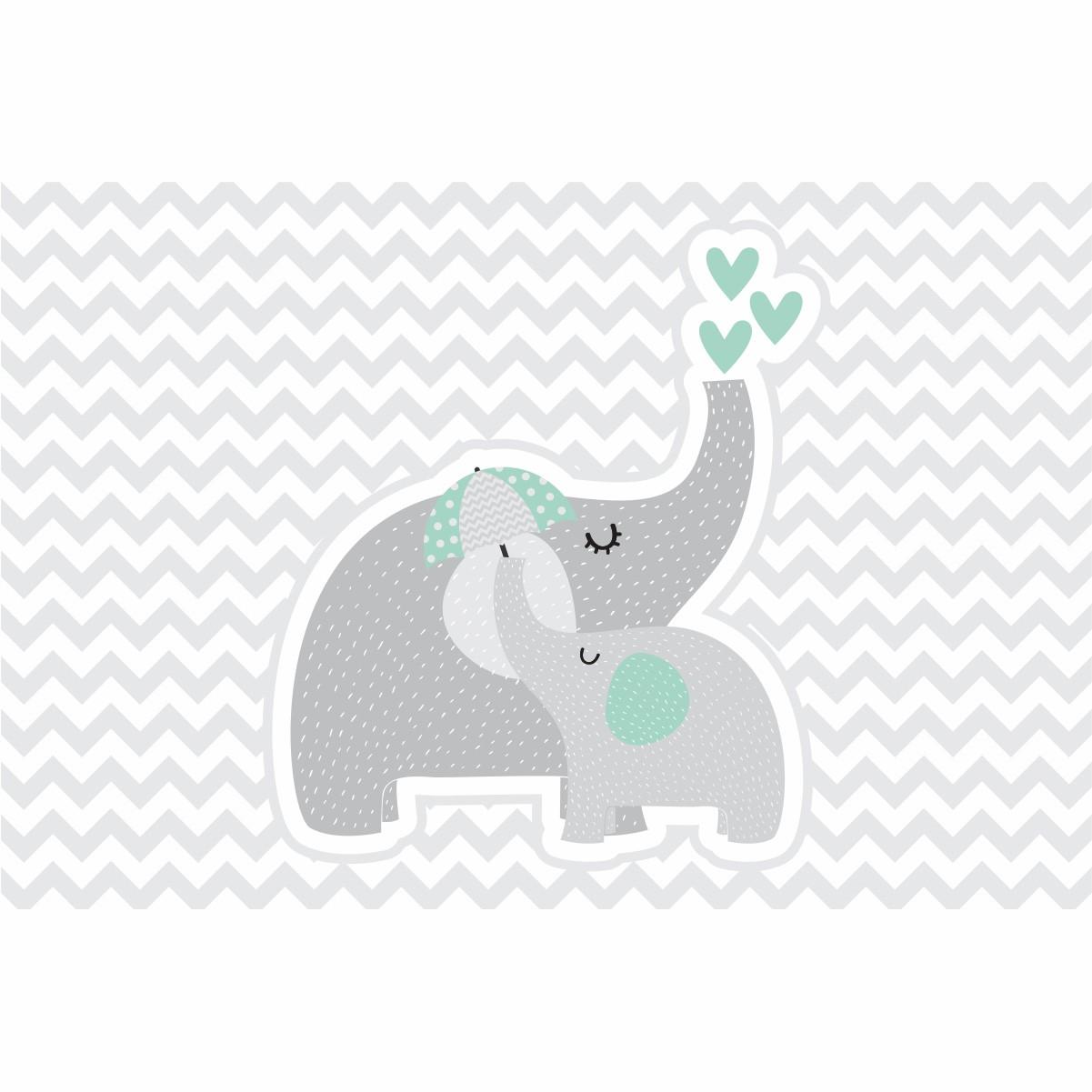 Painel de Festa Lona Elefante Verde