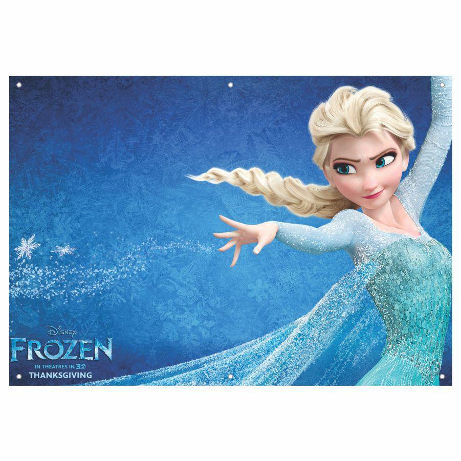 Painel de Festa Lona Frozen