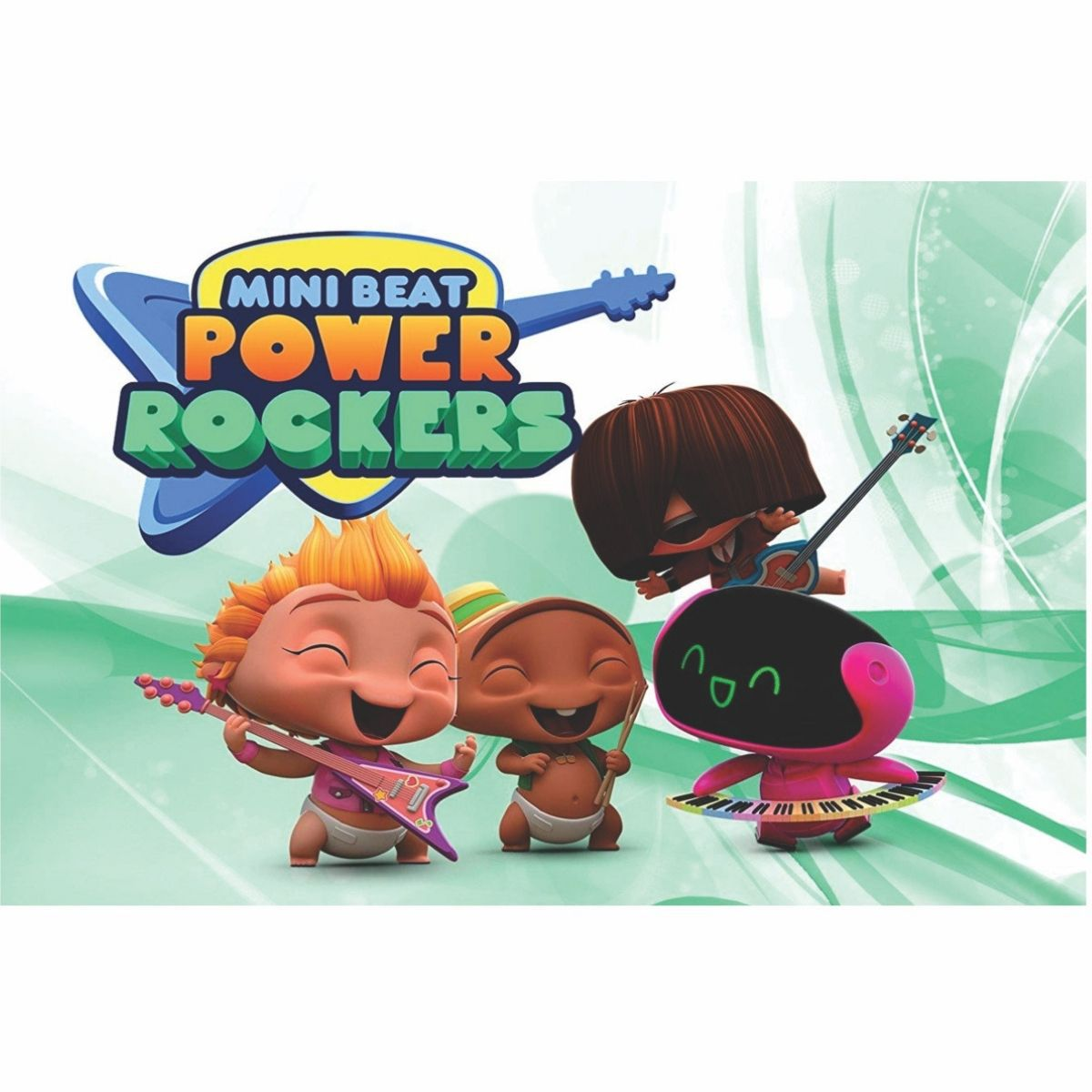 Painel de Festa Lona Mini Beat Power Rockers 2