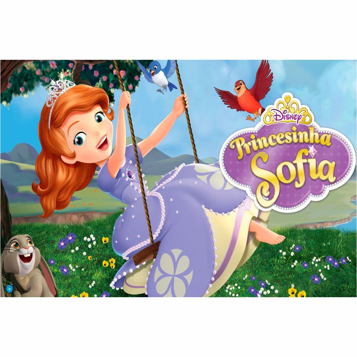 Painel de Festa Lona Princesinha Sophia