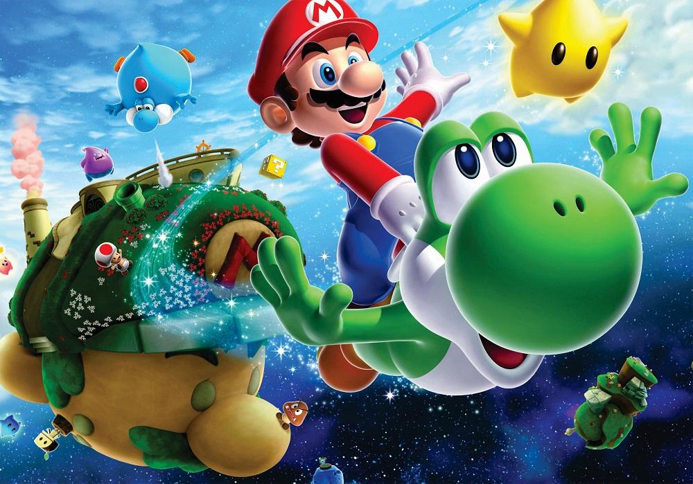 Painel em lona Super Mario