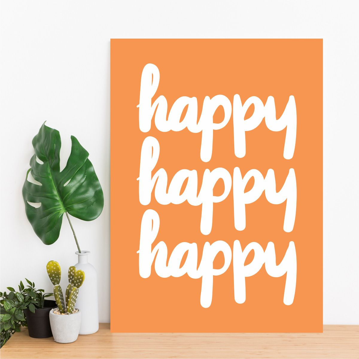 Placa Decorativa Happy