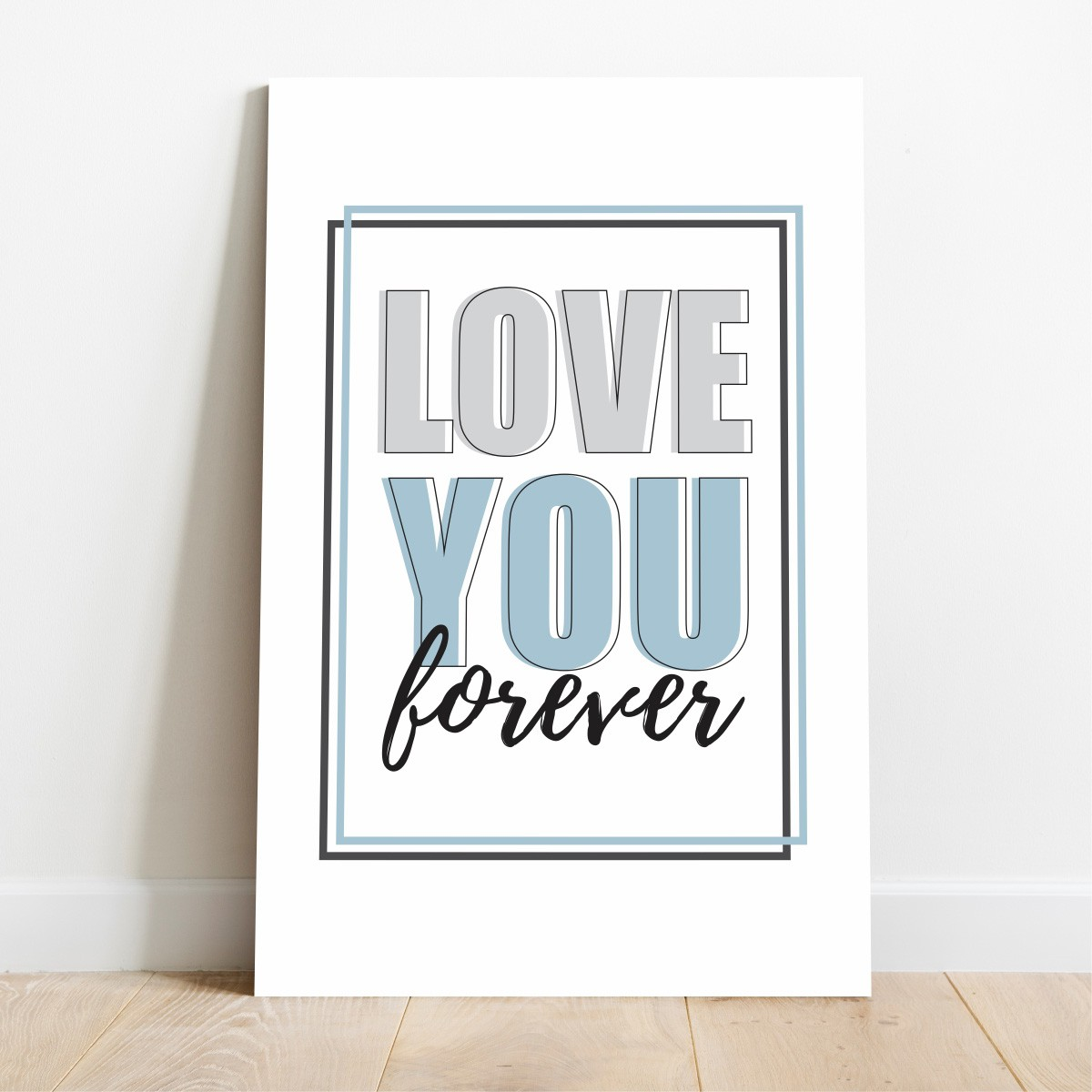 Placa Decorativa Love You Forever